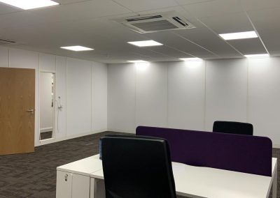 Complete office reconfiguration, Bagshot