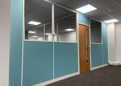 New Office partitions